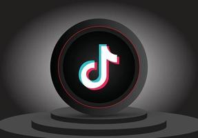 ícone de mídia social 3d tiktok vetor