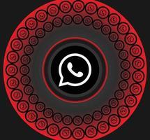 ícones de Whatsapp de mídia social vetor