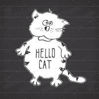 desenho de gato, ilustração em vetor desenho desenhado à mão doodle