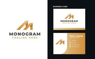 letra m monograma conceito logotipo modelo ilustração vetorial vetor