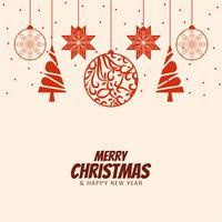 Fundo de saudação de celebração abstrata feliz Natal vetor