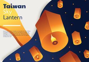 Projeto de vetor de lanterna do céu de Taiwan