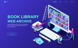 Banner da Web do arquivo de livros