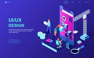 Banner da Web de design de interface do usuário vetor