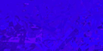 textura de vetor rosa roxo escuro com triângulos aleatórios