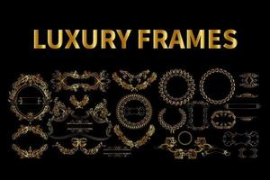 vetor de quadros de luxo