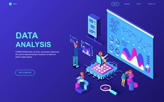 Banner da Web de auditoria e análise de dados vetor
