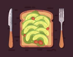 Vetor de torrada de abacate