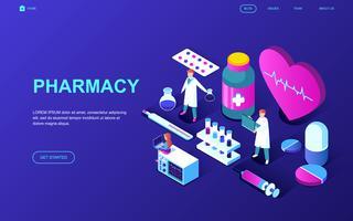 Banner da Web de farmácia vetor