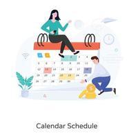 calendário da moda vetor
