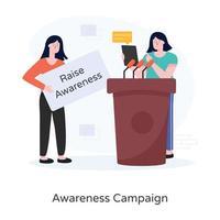 conceito de campanha de conscientização vetor