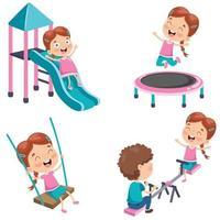 menina brincando no parque vetor