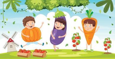 vegetais frescos para uma alimentação saudável vetor