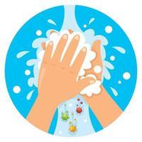 lavar as mãos para cuidados pessoais diários vetor
