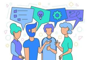 brainstorm de equipe, geração de ideias vetor