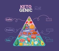 pirâmide de dieta cetogênica vetor