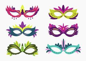 Vetor de máscara de carnaval colorido