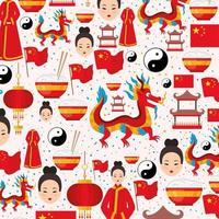 conjunto de ícones chineses vetor