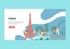 Banner de Paris vetor