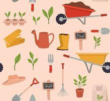 ícones de ferramentas de jardinagem vetor