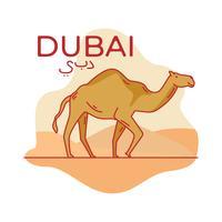 Vetor de camelo em dubai