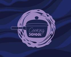 ilustração de panela de cozinha vetor