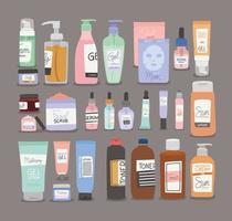pacote de ícones de cuidados com a pele vetor