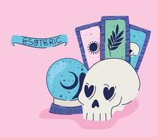 conjunto de ícones esotéricos e letras esotéricas vetor