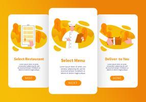 Vetor de aplicativos móveis de ordem de comida on-line