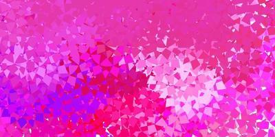 fundo de vetor rosa roxo escuro com linhas de triângulos