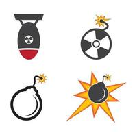 ícone do logotipo da bomba nuclear vetor