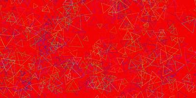 modelo de vetor multicolor escuro com formas de triângulo