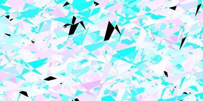textura vector azul rosa claro com estilo triangular