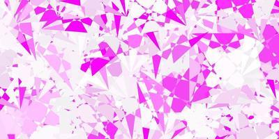 pano de fundo vector roxo claro com linhas de triângulos