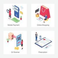 comércio eletrônico e compras online vetor