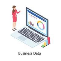 análise de dados de negócios vetor
