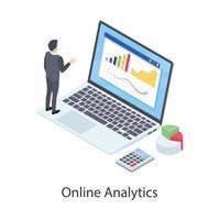 análises e gráficos online vetor