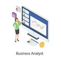 análise de negócios e dados vetor