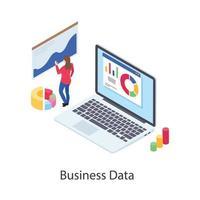 análise e gráfico de negócios vetor