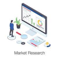 pesquisa e análise de mercado vetor
