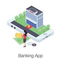 aplicativo de banco móvel vetor