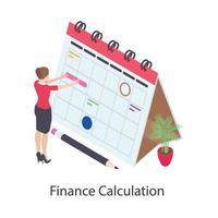 ícone isométrico de cálculo financeiro vetor