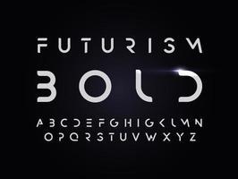 alfabeto em negrito do estilo futurismo. fonte de vetor com apagamento de partes das letras. tipografia recortada