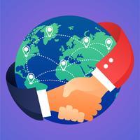 negócios internacionais vetor