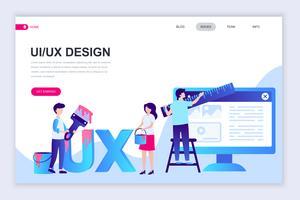 UX, banner da Web da interface do usuário vetor
