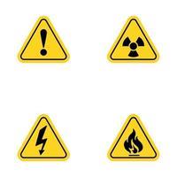 ilustração de design de ícone de vetor de aviso