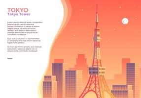 Vetor de torre de Tóquio