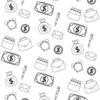 dinheiro e design de vetor de fundo de escritório