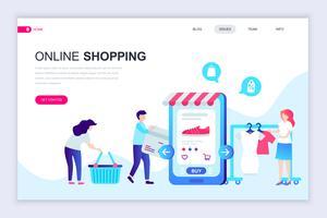Banner da Web de compras on-line vetor