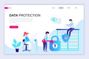 Banner da Web de proteção de dados